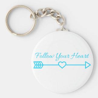 Suivez votre coeur porte-clé rond