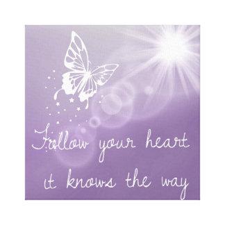 Suivez votre coeur qu'il connaît la toile de