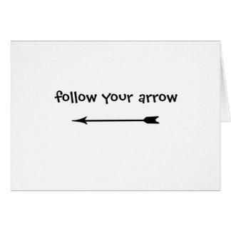 Suivez votre flèche carte de vœux