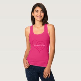 Suivez votre T-shirt de graphique de coeur