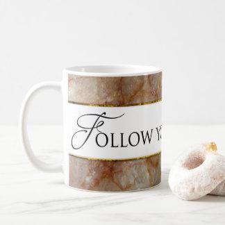 Suivez votre tasse de rêves - AFFECT DE MARBRE