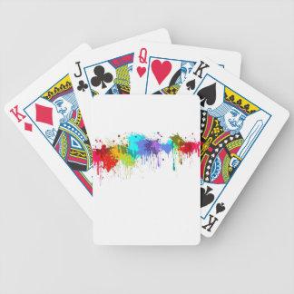 sujets d'éclaboussure de paintball jeu de cartes