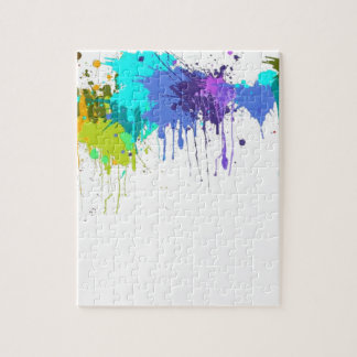 sujets d'éclaboussure de paintball puzzle