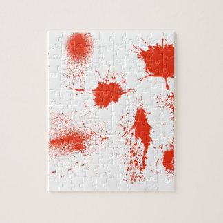 Sujets d'éclaboussure de sang de Halloween Puzzle