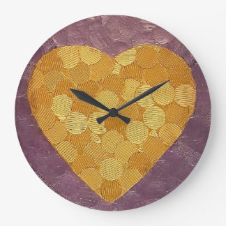 Sujets du coeur grande horloge ronde