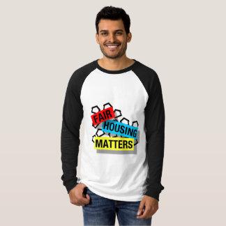 Sujets justes de logement - T-shirt raglan