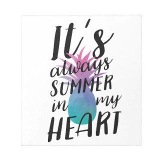Summer Pineapple Bloc-note