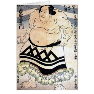 Sumo-lutteur japonais carte de vœux