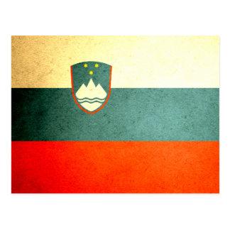 Sun a embrassé le drapeau de la Slovénie Carte Postale