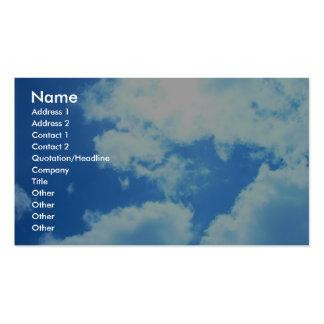 Sun allume les nuages sur Carramar Cartes De Visite Professionnelles