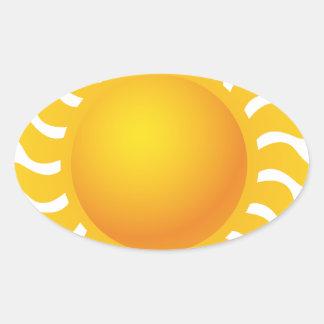 Sun Sticker Ovale