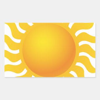 Sun Sticker Rectangulaire
