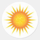 Sun avec des remous adhésif rond