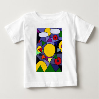 Sun coloré avec l'arc-en-ciel rayonne l'art t-shirt