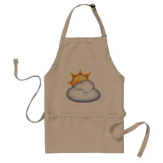 Sun derrière le nuage - Emoji Tablier