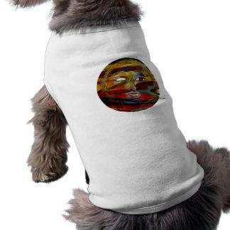 Sun drôle fait face à des chemises d animal famili vêtements pour chien