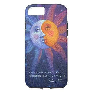 Sun et alignement parfait d'éclipse de lune coque iPhone 7