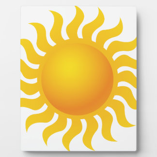 Sun Impression Sur Plaque