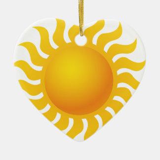 Sun Ornement Cœur En Céramique