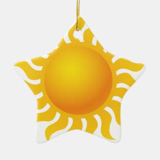 Sun Ornement Étoile En Céramique