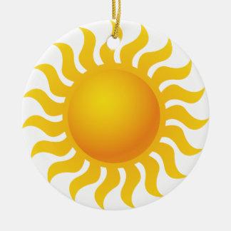 Sun Ornement Rond En Céramique
