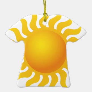 Sun Ornement T-shirt En Céramique
