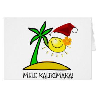 Sun Père Noël - Mele Kalikimaka Carte De Vœux