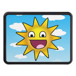 Sun ridiculement heureux couverture d'attelage de remorque