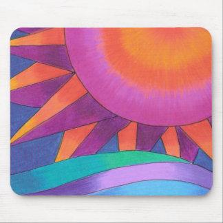 Sun rose et orange Mousepad Tapis De Souris