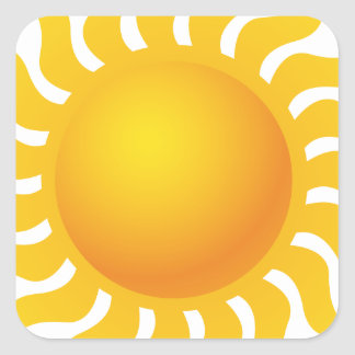 Sun Sticker Carré