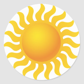 Sun Sticker Rond