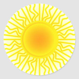 Sun Sticker Rond