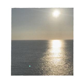 Sun sur l'eau bloc-note