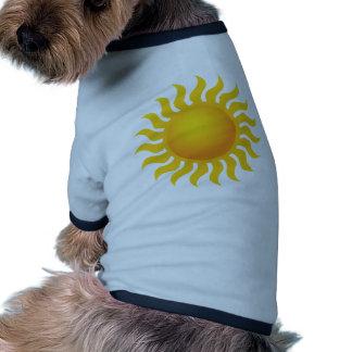 Sun T-shirt Ringer Pour Chien