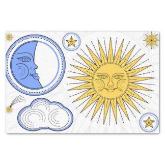 Sun vintage et lune papier mousseline