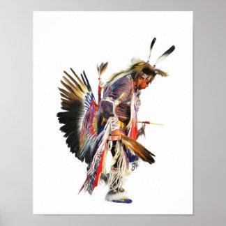 Sundancer - affiche d'art du Natif américain 11x14