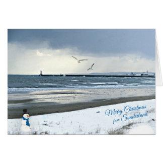 Sunderland - carte de Noël de pilier de Roker