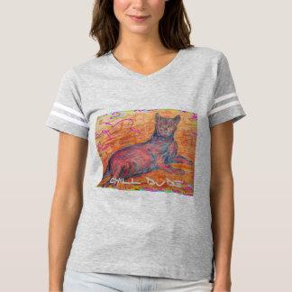sunny cobblestone cat chill dude t-shirts