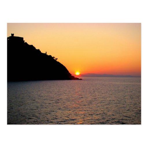 Sunset in Donostia - Saint-Sébastien Carte Postale