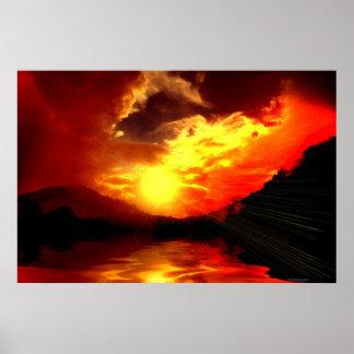 Sunset-landscape-Ver.15 Poster