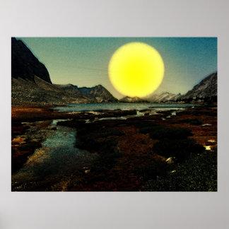 Sunset-landscape-Ver.6 Affiche