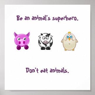 Super héros animal poster