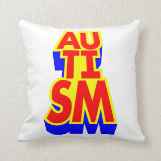 Super héros d'autisme oreiller
