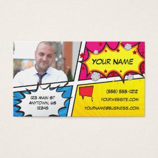 Super héros de bande dessinée cartes de visite