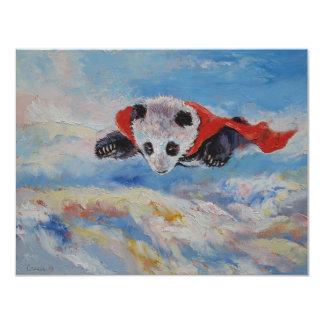 Super héros de panda carton d'invitation 10,79 cm x 13,97 cm