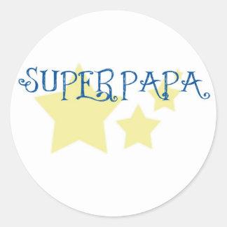 super papa sticker rond