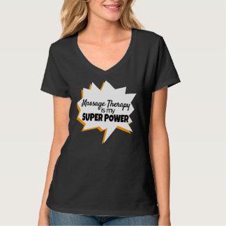Super pouvoir de T-shirt de thérapeute de massage