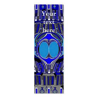 Superfly conception bleu-foncé carte de visite petit format