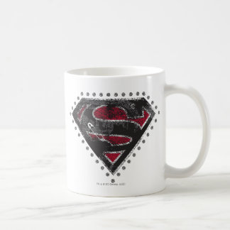 Supergirl a affligé le noir et le rouge de logo mug
