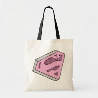 Supergirl a esquissé le logo rose sac en toile